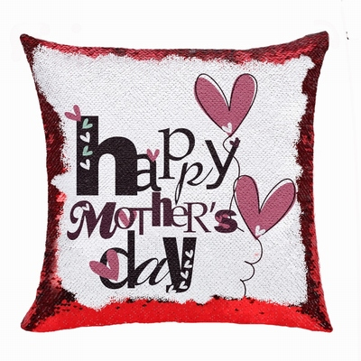 Creative Mother Day Gift Personalised Picture Sequin Cushion Cover