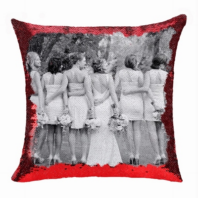 Creative Personalized Sequin Cushion Cover Best Bridesmaid Gift