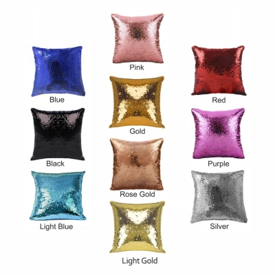 Cute Personalised Sequin Cushion Cover Kid Hide Picture Gift