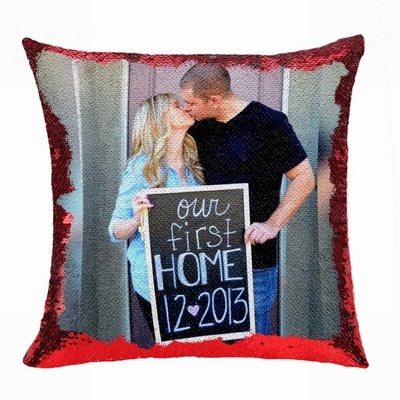 Perfect Gift Personalized Image Flip Sequin Pillow House Warming