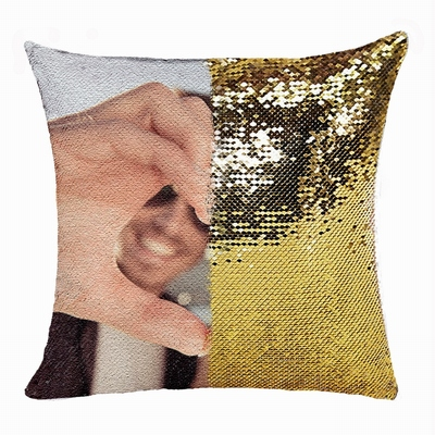 Perfect Personalized Sequin Magic Pillow Boyfriend Photo Gift