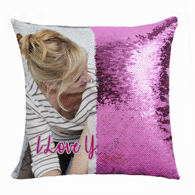 Personalized Gift Cool Image Sequin Magic Pillow For Mom