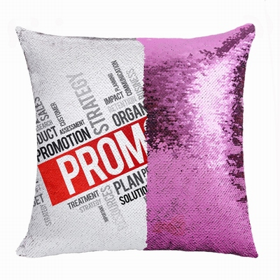 Promotional Company Gift Personalized Photo Sequin Cushion Cover