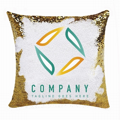 Unusual Personalized Sequin Pillow Compnay Logo Photo Text Gift