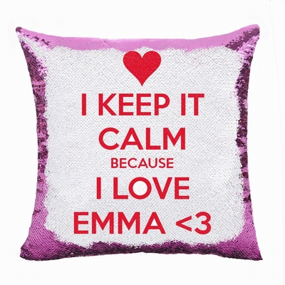Wonderful Girlfriend Gift Personalised Text Flip Sequin Pillow