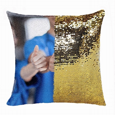 Wonderful Personalized Name Sequin Magic Pillow Nurse Gift