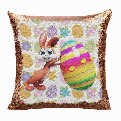 Easter Personalized Photo Perfect Gift Magic Sequin Pillow