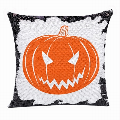 Personalized Halloween Gift Unusual Present Flip Sequin Pillow