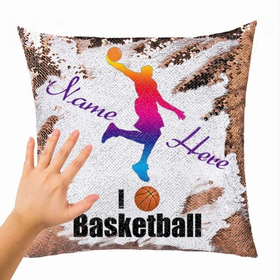 Unique Name Gift For Bastketball Player Creative Personalized Sequin Pillow