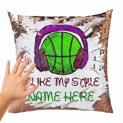 Magic Sequin Cushion Cover Name Express Yourself Gift I Like My Style