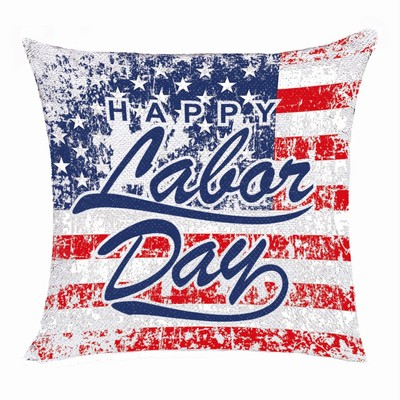 Perfect Custom Sequin Cushion Cover Photo Gift Labor Day