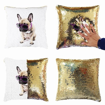Top Custom Made Sequin Cushion Cover Photo Gift Pet Dog