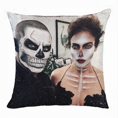 Personalized Gift Best Monsters Makeup Couple Flip Sequin Pillow