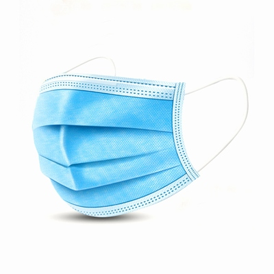 3 Layers Ear-loop Non-woven disposable Masks Mouth Cover 50 Pack